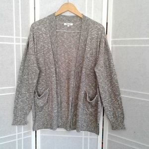 Madewell heather grey open front  cardigan size M